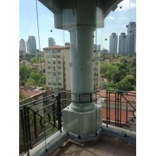 Şeffaf Cam balkon
